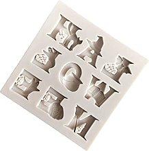 Luxshiny - Stampo da forno in silicone con lettere