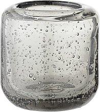 Luzillat Lanterna in vetro grigio per candela