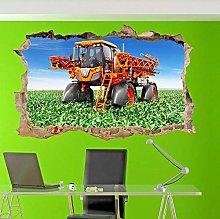Macchinari Agricoli Adesivo Murale 3D Art