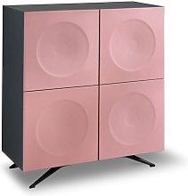 Madia Mobile Contenitore Alto 4 Ante Concave Pink
