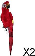 MagiDeal 2X Uccelli Colorati Realistici