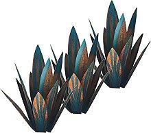 MagiDeal 3 Pezzi Rustico Blu Tequila Scultura
