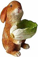 MagiDeal Bunny Vaso di Fiori Testa Fioriera Vaso