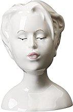 MagiDeal Ceramica Statua di Animale Umano Vaso di