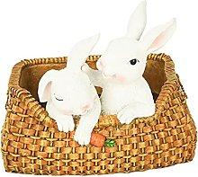 MagiDeal Coniglio in Resina Vaso di Fiori