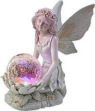 MagiDeal Flower Fairy Garden Statua Scultura con