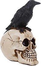 MagiDeal Gothic Teschio di Pirate Ornamento Resina