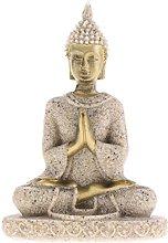 MagiDeal La Statua di Buddha Scultura A Mano