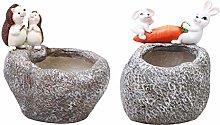 MagiDeal Ornamento del Vaso della Pianta della
