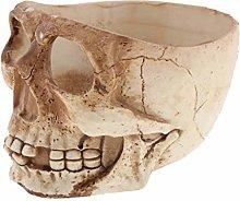 MagiDeal Resina Cranio Giardino Vaso Pianta