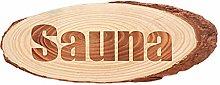 MagiDeal Retro Rustico Sauna in Legno Piastra