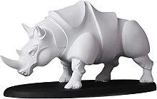 MagiDeal Simpatica Resina Rinoceronte Statua