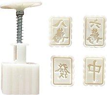 Mahjong design mooncake stampo pressa 50g con 4