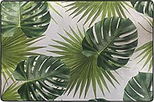 MALPLENA - Tappeto con foglie di palma, per