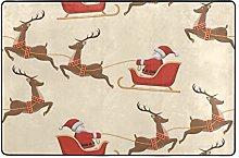 MALPLENA - Tappeto da salotto con Babbo Natale per