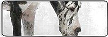 MALPLENA - Tappeto runner da cucina, 182,9 x 61 cm