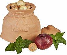 MamboCat - Pentola per cipolle in terracotta con