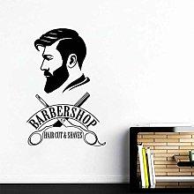 Man Barber Shop Decalcomania Da Muro Hair Salon