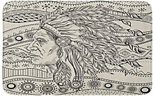 Man In The Native American Indian Chief On Ethno