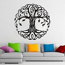 Mandala Albero Rotondo Adesivo Albero della Vita