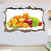 Mangiare sano Frutta Adesivi murali 3D Arte murale