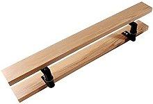 Maniglia per porta in vetro a doppio lato in legno