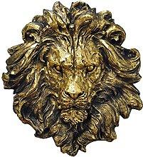 Mankvis Scultura Statua Imitazione Testa di Leone,