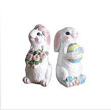 Mankvis Statua di coniglio pasquale scultura,