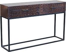MANTRA - consolle con decoro legno e ferro