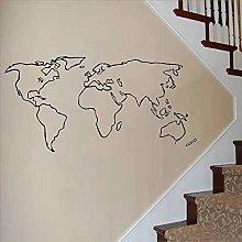 Mappa Del Mondo Adesivo Da Parete In Vinile Carta