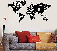 Mappa del mondo Animali Natura Vinile Adesivo
