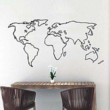 Mappa Del Mondo Colorato Adesivo Murale Soggiorno