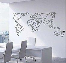 Mappa Del Mondo Geometrica Adesivo Murale