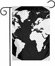 Mappa del Mondo Silhouette Bandiere da Giardino