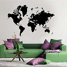 Mappa Del Mondo Wall Art Vinile Adesivo
