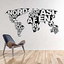 Mappa del mondo Wall Sticker Art Design