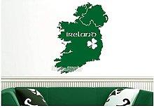 Mappa dell'Irlanda Adesivo da parete in vinile