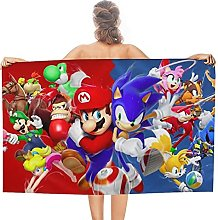 Mario E Sonic double face pile Asciugamani da