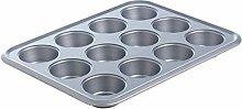 mastrad 12-Muffin Teglia in Metallo, Alluminio,
