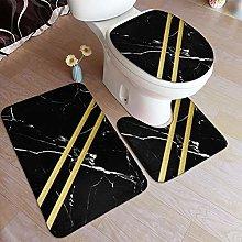 MATEKULI Set di 3 Tappetini da Bagno,Design in
