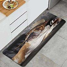 MATEKULI Tappeto da Cucina,Bulldog Funny Dog