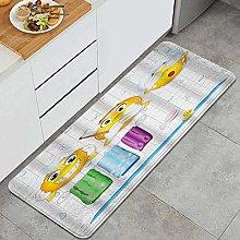 MATEKULI Tappeto da Cucina,Stampa digitale modello