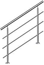 MCTECH® 180 cm Ringhiera per corrimano in acciaio