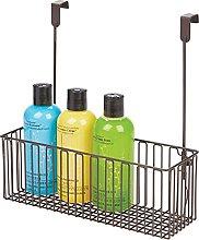 mDesign Scaffale portaoggetti per accessori bagno