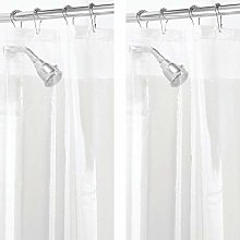 mDesign Set da 2 Tende doccia PEVA senza PVC –