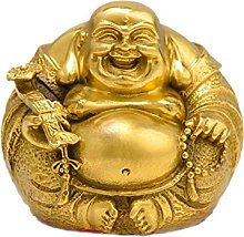 MDROGKUX Rame Puro Maitreya Buddha Statua