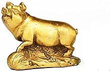 MDROGKUX Rame Zodiac Series Maiale Scultura Statua