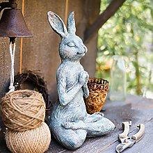 Meditazione Yoga Statua Del Coniglio,Antico