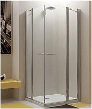 Megius - Box doccia angolare 100x80 con angolo