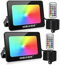 MEIKEE - Faretto RGB da 35 W, con telecomando, 2